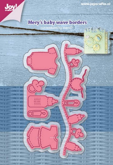 Mery`s - Cutting & Embossing stencil - Mery`s Baby - Wave Borders