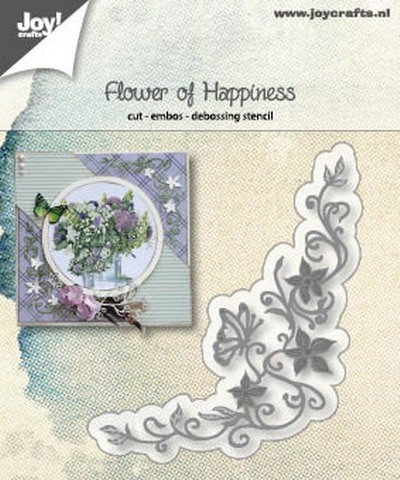 Joy! Crafts - Cutting & Embossing stencil - Flower of Happiness