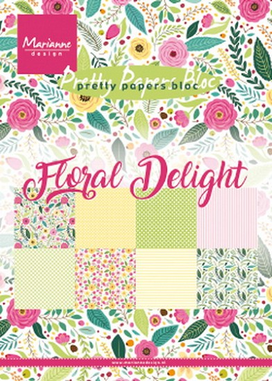 Marianne Design - Pretty Papers Blocks - A5 - Floral Delight