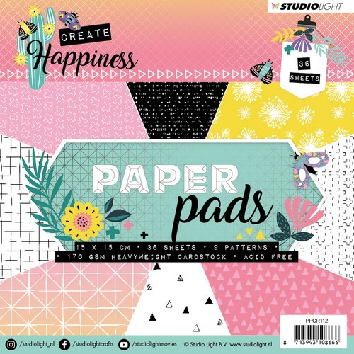 Studio Light - Paper Pad 36 vel - Create Happiness PPCR112