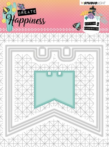 Studio Light - Cutting Stencil - Create Happiness nr.153