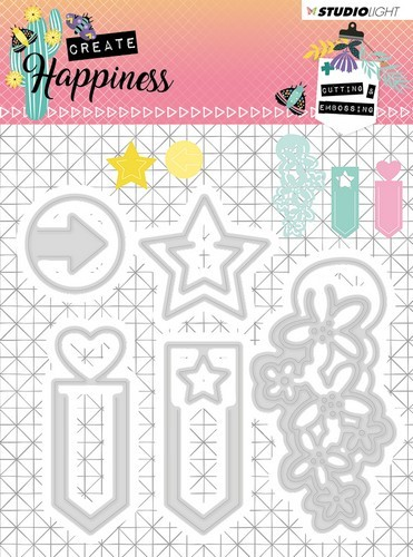 Studio Light - Cutting Stencil - Create Happiness nr.155