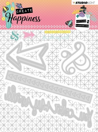 Studio Light - Cutting Stencil - Create Happiness nr.156