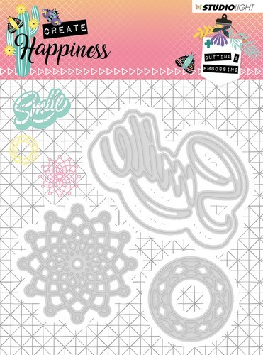 Studio Light - Cutting Stencil - Create Happiness nr.157