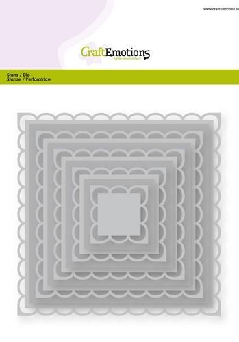 Stansmal CraftEmotions - Big Nesting Die - vierkanten scalop XL open