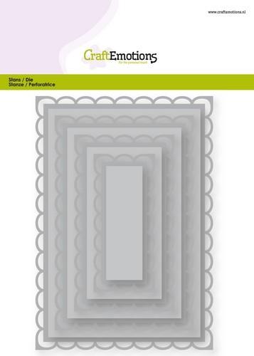 Stansmal CraftEmotions - Big Nesting Die - rechthoeken scalop XL