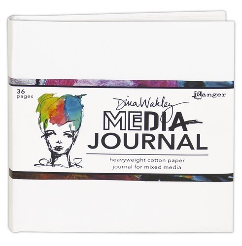 "Ranger - Dina Wakley Media White Journal -  6"" x 6"""
