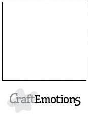 CraftEmotions - Kaartkarton glad - 10 vel wit
