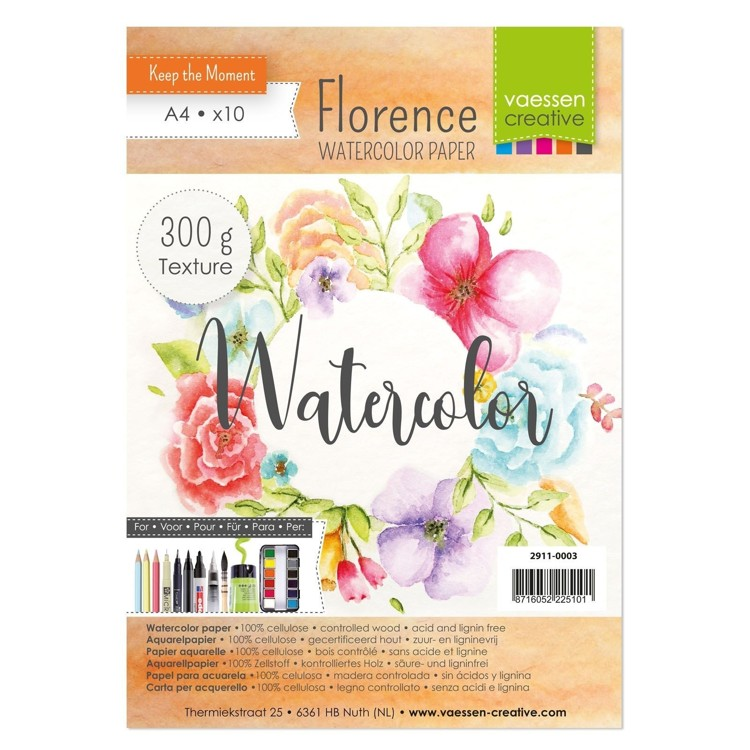 Florence - Aquarelpapier Texture 300g - A4 - (x12)
