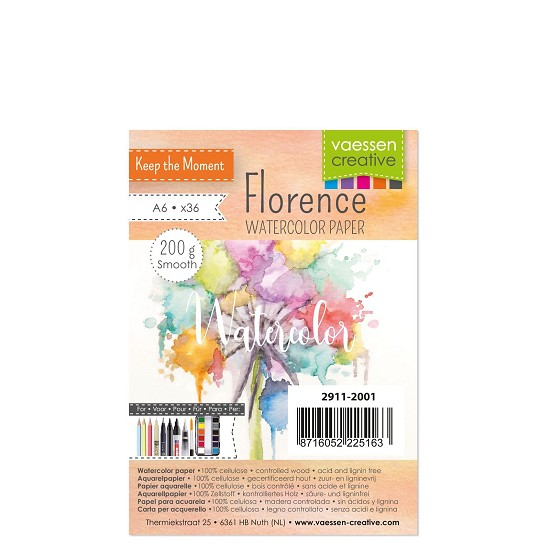 Florence - Aquarelpapier Smooth 200g - A6 - (x36)