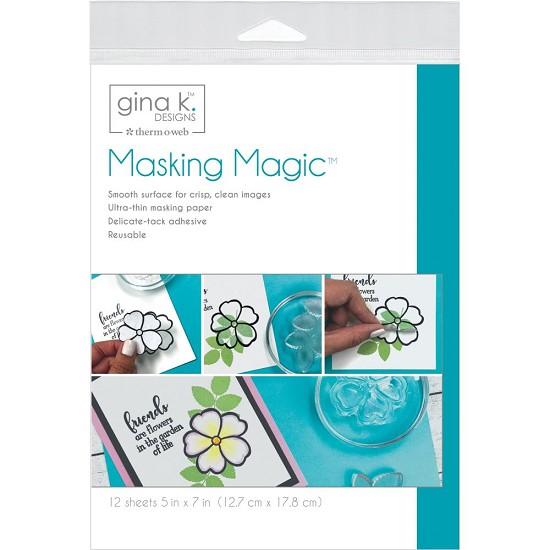 "Gina K Designs - Masking Magic Sheets - 5""X7"" 12/Pkg"