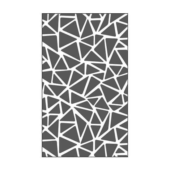 "Vaessen Creative - Embossing folder 3x5"" - Triangle Texture"