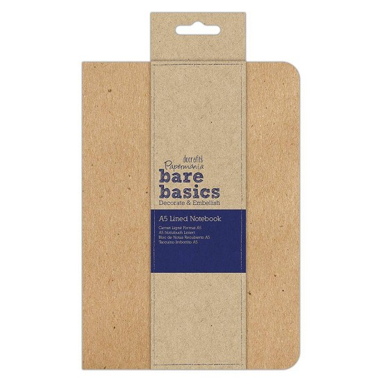 Papermania - Kraft Cover Lined Notebook - A5 (PMA 101111)