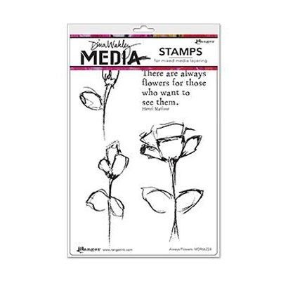 Ranger - Dina Wakley - Media cling stamp - Always flowers