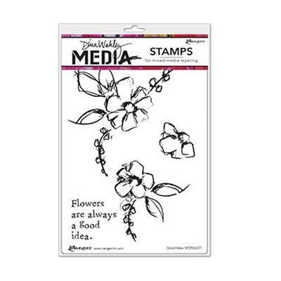 Ranger - Dina Wakley - Media cling stamp - Good Idea