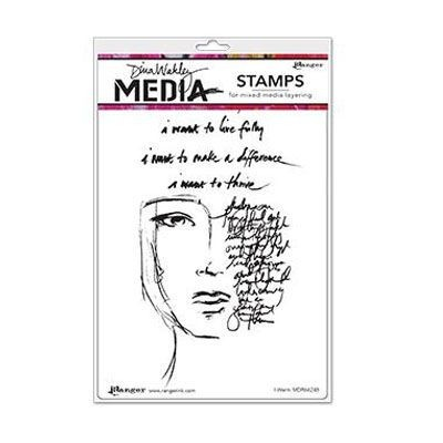 Ranger - Dina Wakley - Media cling stamp - I want