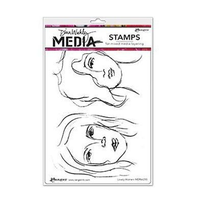 Ranger - Dina Wakley - Media cling stamp - Lovely Women