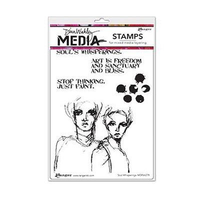 Ranger - Dina Wakley - Media cling stamp - Soul Whisperings