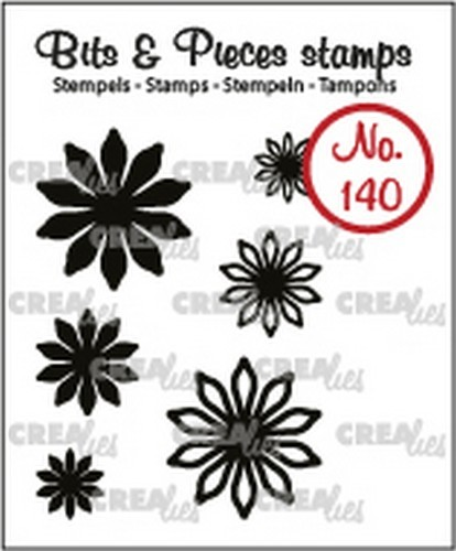 Crealies - Clearstamp - Bits & Pieces - 6x Mini Bloemen 17