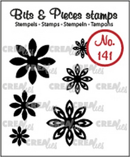 Crealies-  Clearstamp - Bits & Pieces - 6x Mini Bloemen 18