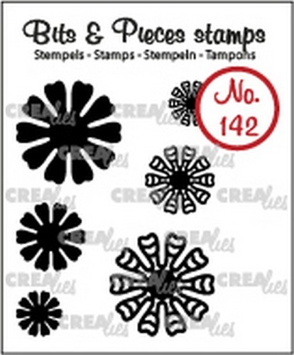 Crealies - Clearstamp - Bits & Pieces - 6x Mini Bloemen 19