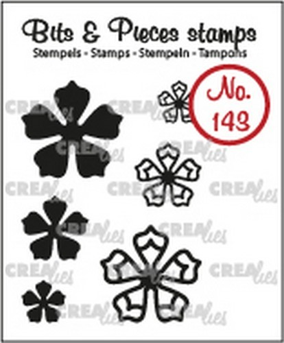 Crealies - Clearstamp - Bits & Pieces - 6x Mini Bloemen 21