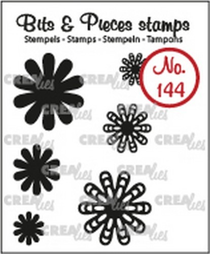 Crealies  -Clearstamp - Bits & Pieces - 6x Mini Bloemen 22