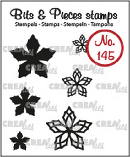 Crealies  -Clearstamp - Bits & Pieces - 6x Mini Bloemen 23