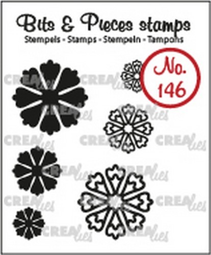 Crealies - Clearstamp - Bits & Pieces - 6x Mini Bloemen 24