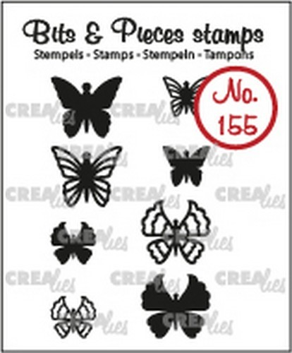 Crealies  -Clearstamp - Bits & Pieces - 8x Mini Vlinders 5 + 6