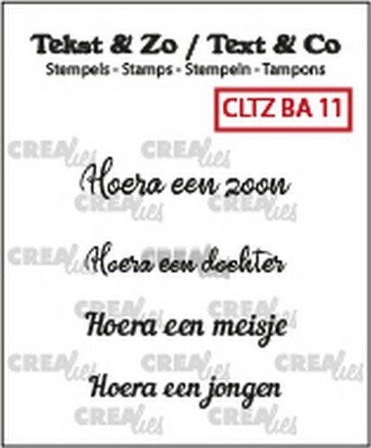 Crealies - Clearstamp - Tekst&Zo - 4x Baby 11