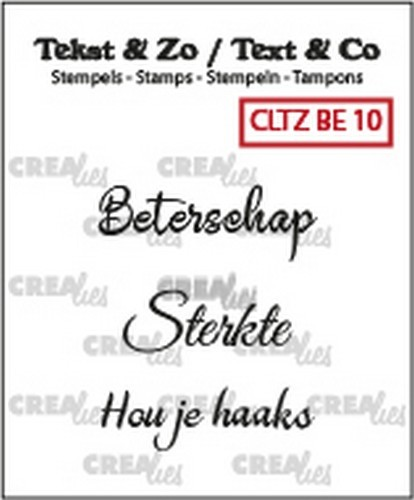 Crealies - Clearstamp - Tekst&Zo - 3x Beterschap 10