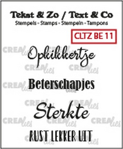 Crealies - Clearstamp - Tekst&Zo - 4x Beterschap 11 (NL)