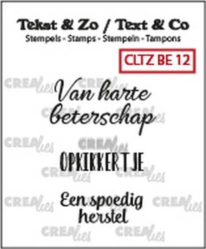 Crealies - Clearstamp - Tekst&Zo - 3x Beterschap 12