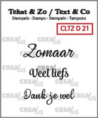 Crealies - Clearstamp - Tekst&Zo - 3x Divers 21 (NL)