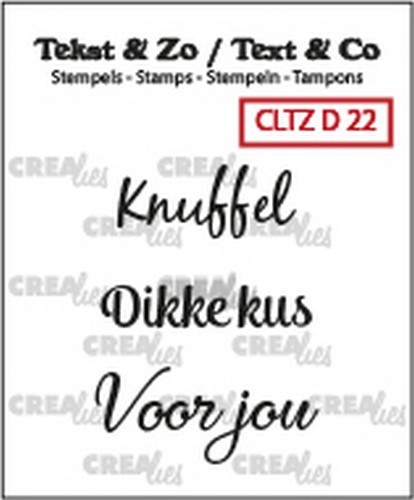 Crealies - Clearstamp - Tekst&Zo - 3x Divers 22 (NL)