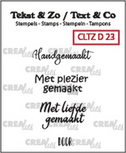 Crealies - Clearstamp - Tekst&Zo - 4x Divers 23