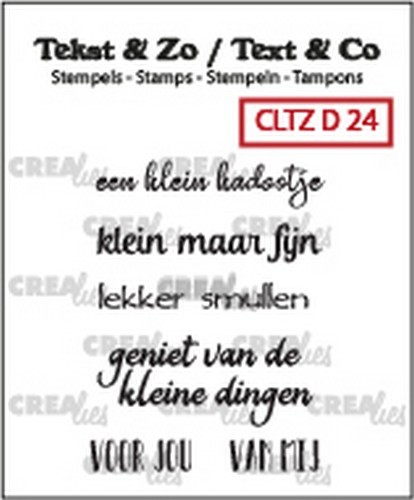 Crealies - Clearstamp - Tekst&Zo - 5x Divers 24