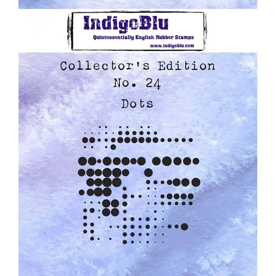 IndigoBlu - Rubber Stamp - Collectors Edition 24 - Dots