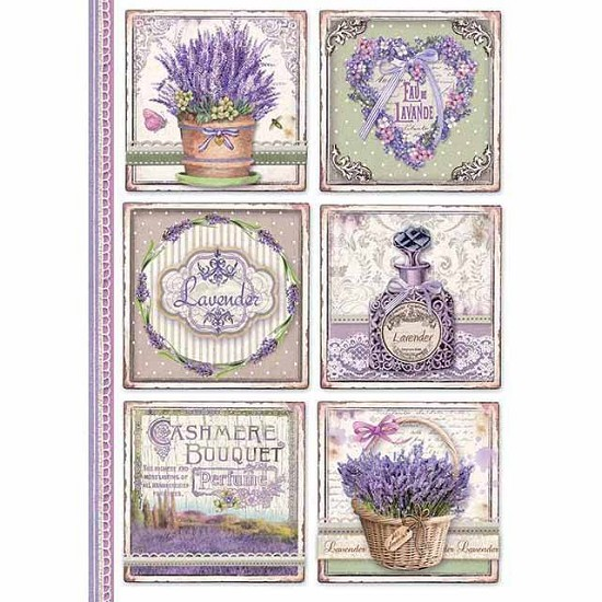 Stamperia - Rice Paper A4 - Provence Cards