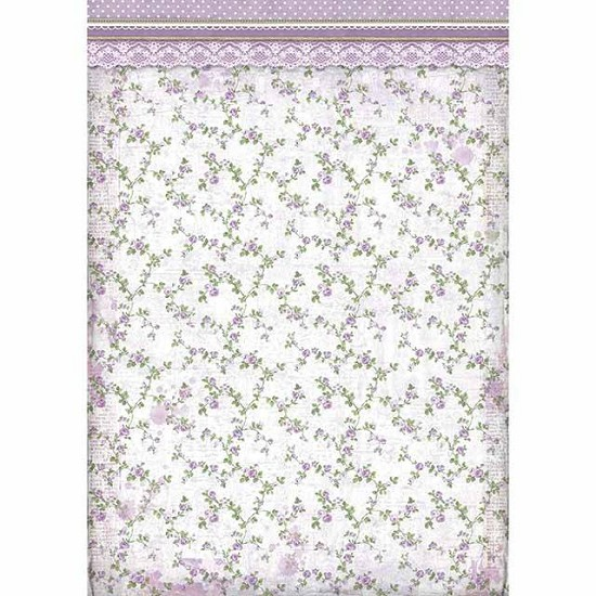 Stamperia - Rice Paper A3 - Provence Flowers