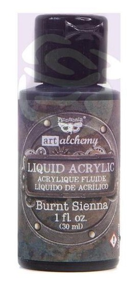 Finnabair -  Art Alchemy Liquid Acrylic Paint - Burnt Sienna