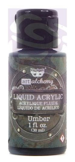 Finnabair -  Art Alchemy Liquid Acrylic Paint - Umber