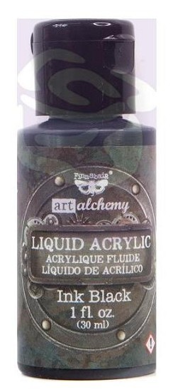 Finnabair -  Art Alchemy Liquid Acrylic Paint - Ink Black