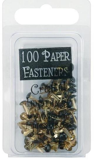 Creative Impressions - Mini Metal Paper Fasteners 3mm - zwart
