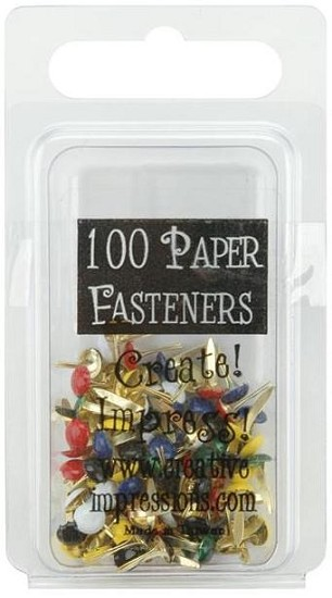 Creative Impressions - Mini Metal Paper Fasteners 3mm - Primary