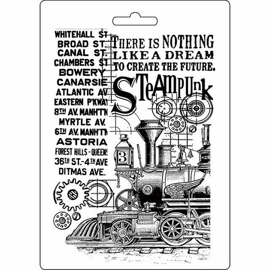 Stamperia - Soft Mould A5 - Steampunk Train