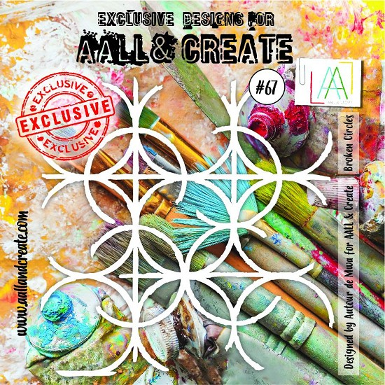 "AALL & CREATE - Stencils - 6"" x 6""  set number #67"