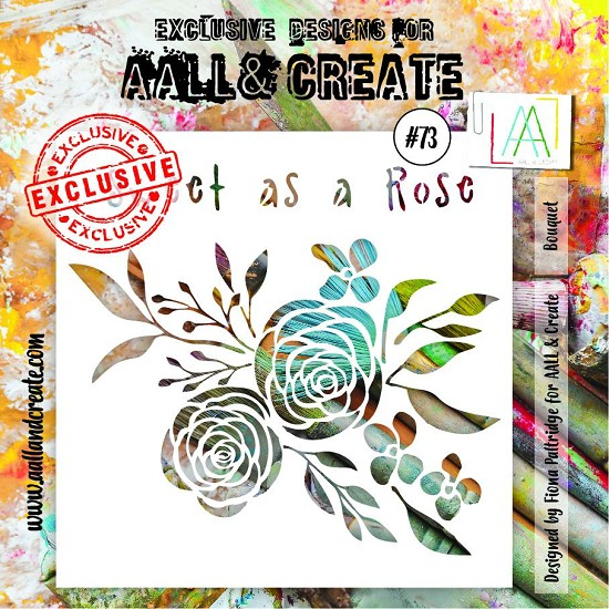 "AALL & CREATE - Stencils - 6"" x 6"" set number #73"