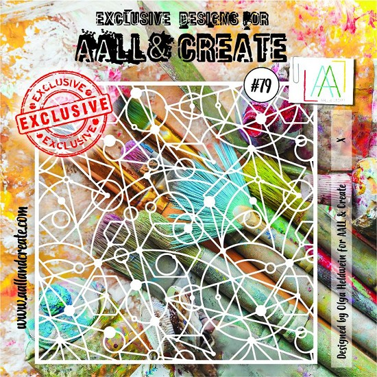 "AALL & CREATE - Stencils - 6"" x 6"" set number #79"